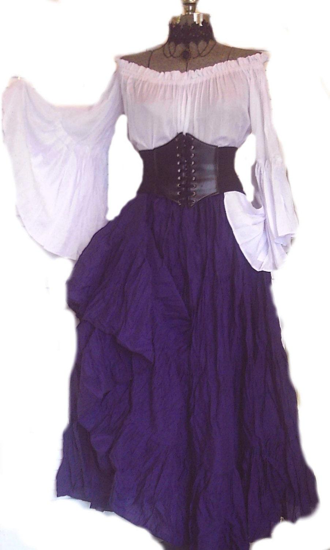 1f810cd9349 Renaissance Dress Pirate Corset Gypsy Chemise Waist Cincher 4