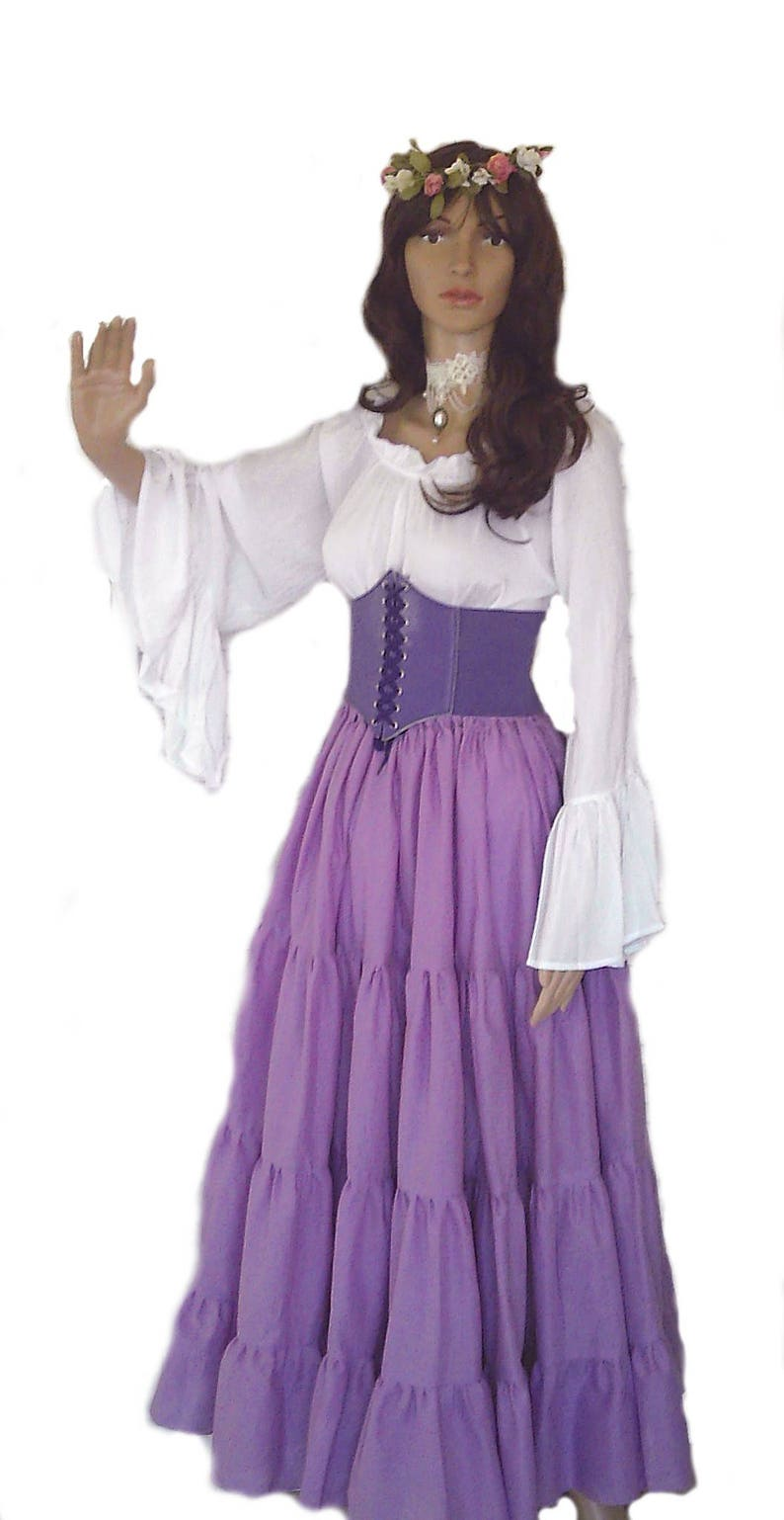 2e9e1c2d7e2 Renaissance Dress Pirate Gypsy Chemise Outfit Purple Waist