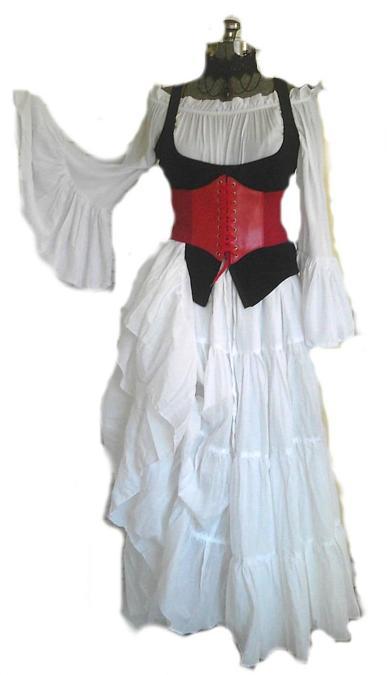 Valentine/'s Day Corset Belt Red Pink Underbust Waist Cincher Pirate Steampunk Renaissance Costume Medieval Festival