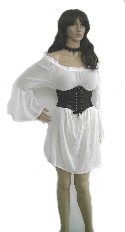 2c20a01f4 Plus Size Renaissance Dress Chemise Corset Outfit 4 pcs Wench