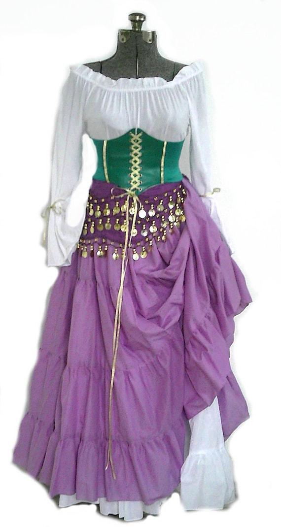 Costume Halloween Esmeralda.Esmeralda Hunchback Of Notre Dame Inspired Costume Corset Gypsy Cosplay Halloween