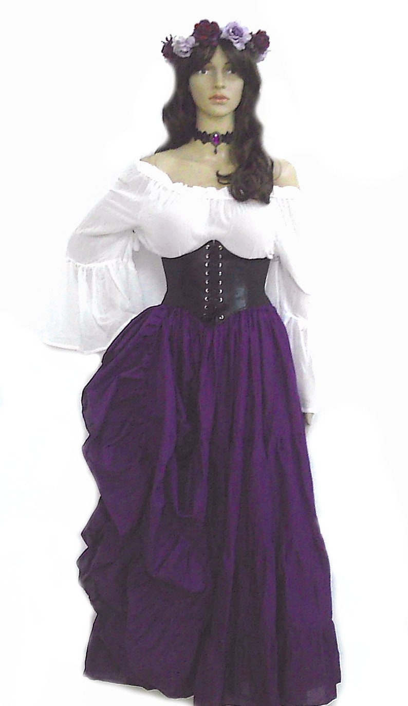 f45dbe77242 Renaissance Steampunk Dress Pirate Gypsy Cosplay Outfit Waist