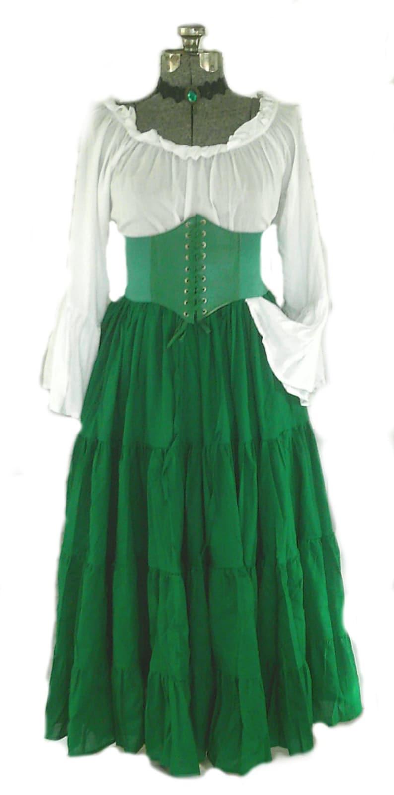 d872269d9 Renaissance Dress Chemise Corset Outfit 4 pcs Wench Pirate St