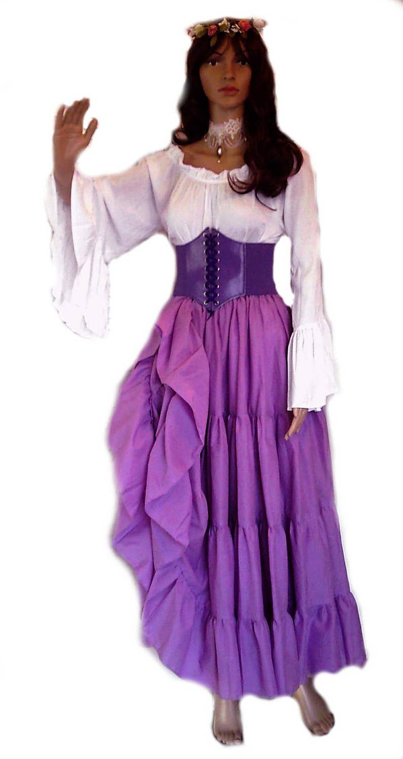 c3b8942148a Renaissance Dress Chemise Corset Outfit 4 pcs Wench Pirate
