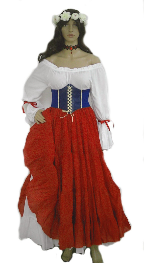 RENAISSANCE BLOUSE CHEMISE SHIRT MEDIEVAL STEAMPUNK PIRATE WENCH FAIRE COSTUME