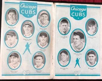 1935 Chicago Cubs vs Detroit Tigers Wrigley Field Souvenir Score Card