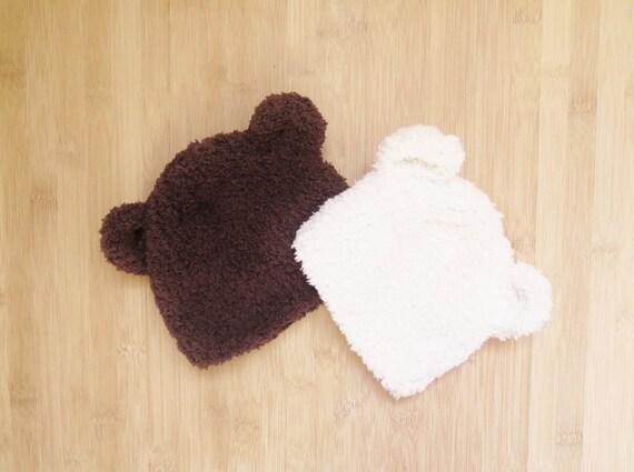 ef1be34ddf93 Tuque d ourson pour bébé Bonnet pour bébé en forme   Etsy