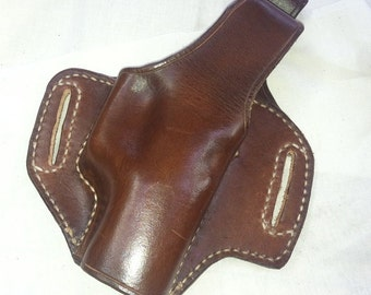 Brown Leather CCW Holster for Glock 19 and Others