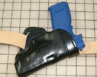 Chuck's Small-of-the-back Leather Holsters for Glock,42 With Crimson Trace