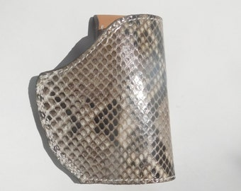 Handmade Python Snake CCW Slide Holster for Ruger LC9 or LC 380 CA, with Laser
