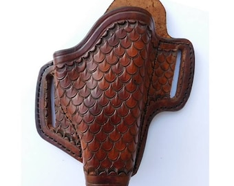 Hand Made Leather Holster for Glock 19 and Others - Fully Stamped