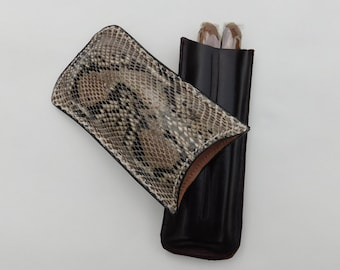 Genuine  Python Cigar Case - Hand Made by OGLW