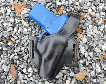 Black Leather CCW Holster for Sig Sauer P228
