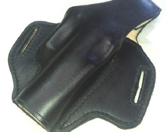 Black Leather CCW Holster for Glock 19 and Others