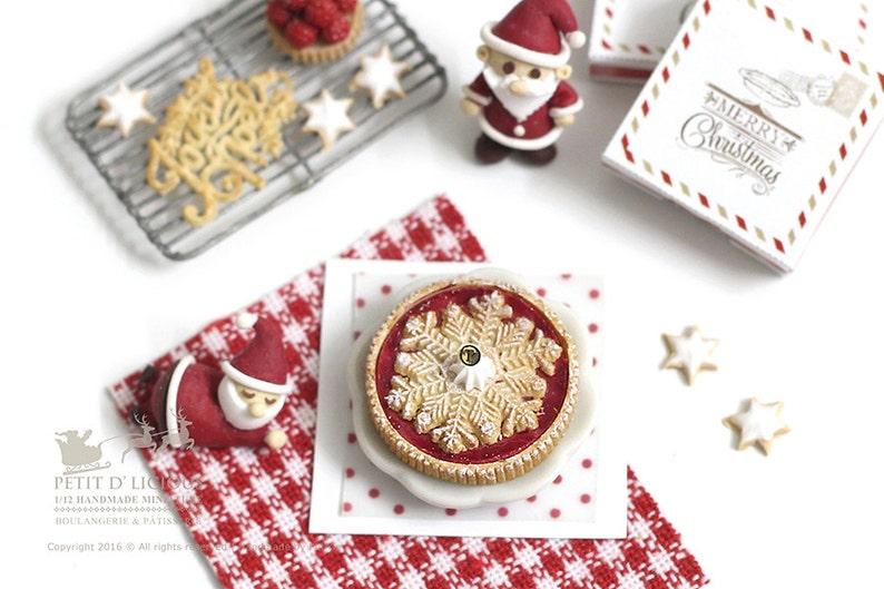 X.27 escala 1//12th Casa De Muñecas Navidad conjunto de decoraciones mixtas
