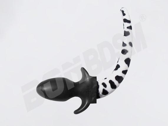 2cc2dba2c Bon Dog Tail But Plug with Faux Fur Dalmatian look Anl Plug