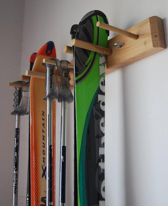 Snow Ski Storage Rack Wall Mount 2 Skis