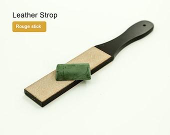 Leather Strop Rouge Stick Knife Sharpener Leather Blade LeatherMob Leathercraft Craft Tool Leather
