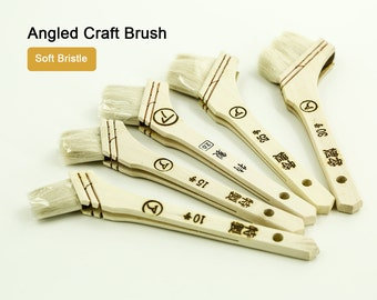 Soft Bristle Japanese Angled Craft Brush to Paint & Dye LeatherMob Leathercraft Craft Tool