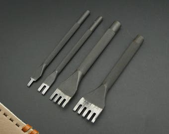 3mm Flat Leather Stitching Chisel Pricking Iron Tool Kyoshin Elle LeatherMob Leathercraft