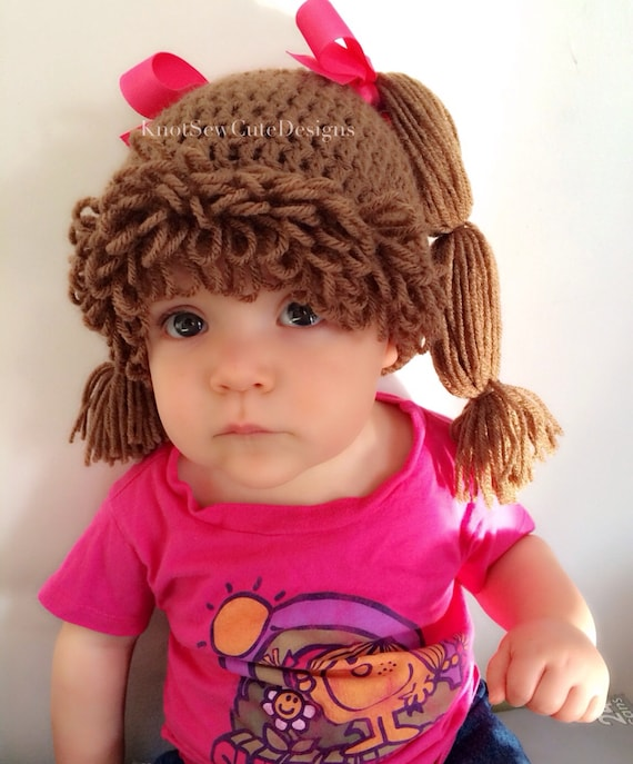 Pdf Pattern Cabbage Patch Inspired Hat All Sizes Newborn Etsy