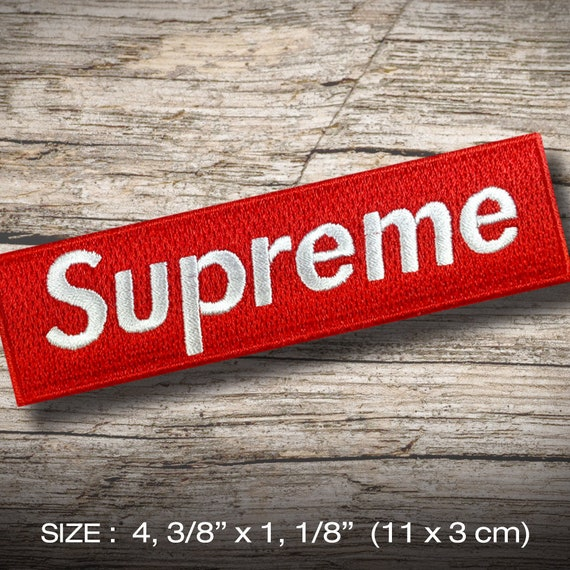 1cfd1fc699d Supreme Embroidered patch iron on or sew DIY Hobby