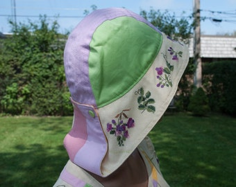 Tender embroidered summer hat (sewing, cross-stitch)