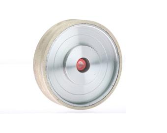 "8/""x0.032/""x5//8/"" Red Thin Rim Diamond Sintered Lapidary Glass Gemstone Saw Blade"