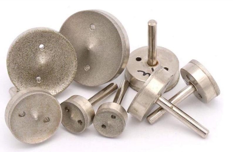 40mm Nickel Electroplated Diamond Donut Burs Point Bits