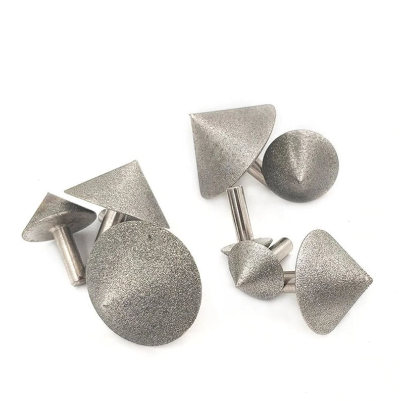 25mm 90 Dregree Electroplated Diamond Cone Chamfer Grinding Head Stone Glass Chamfering Head 20-60mm cone