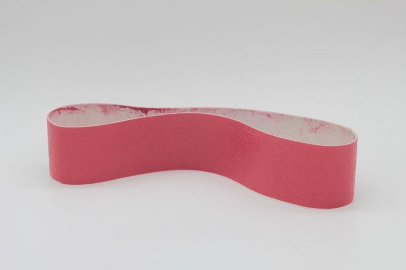 6x1-1//2 Diamond Resin Lapidary Glass Sanding Belt-140Grit