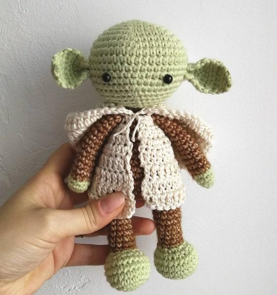 Meister Yoda Machte Amigurumi Häkeln Etsy