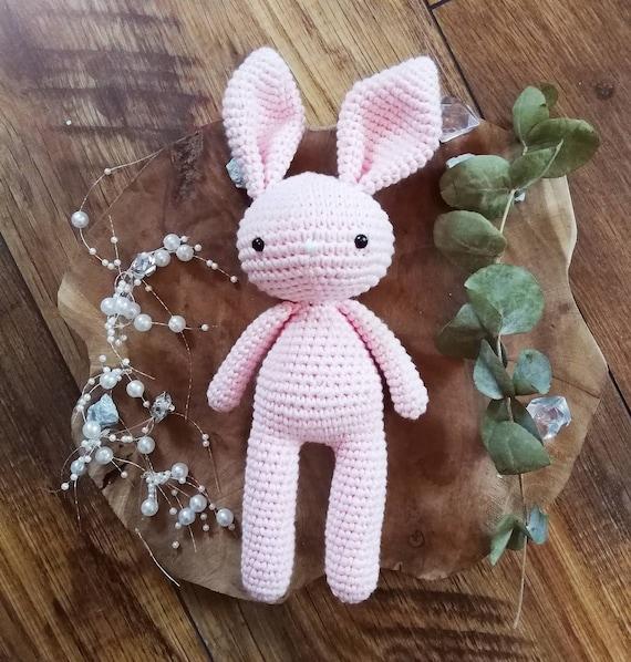 Doudou lapin au crochet rose | amigurumi lapin rose | cadeau bébé fille et  garçon | cadeau de naissance - Un grand marché | 598x570