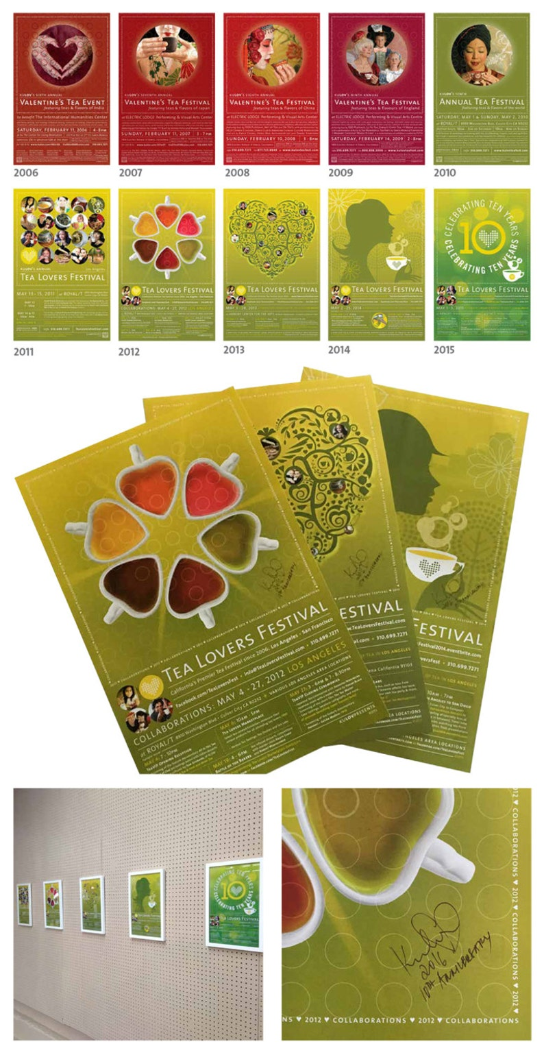 Tea Lovers Festival: Set of 3 Posters  Individually Signed image 0
