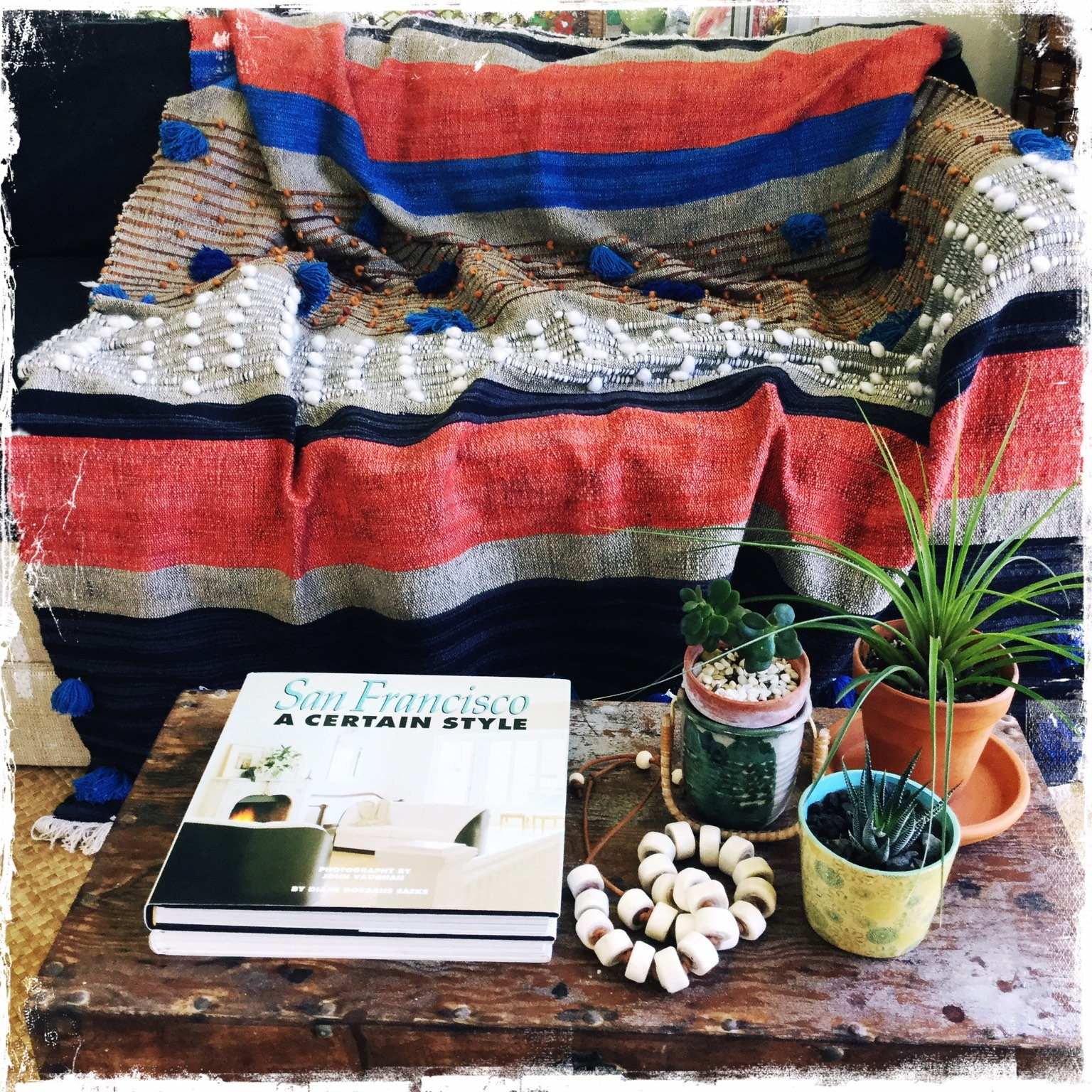Picture of: Throw Blanket Boho 6 X4 Blanket Throw Tassel Throw Etsy