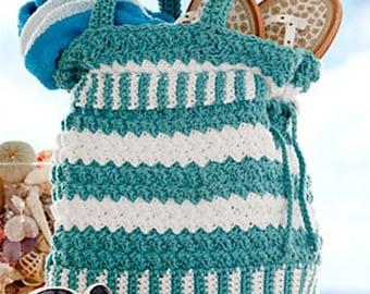 CROCHET PATTERN PURSE Tote Handbag Seaspray Summer Handbag
