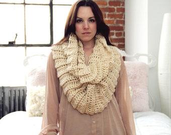 Chunky Cowl Easy CROCHET PATTERN Infinity Scarf Cowl Wrap The PORTLAND Cowl Crochet Pattern