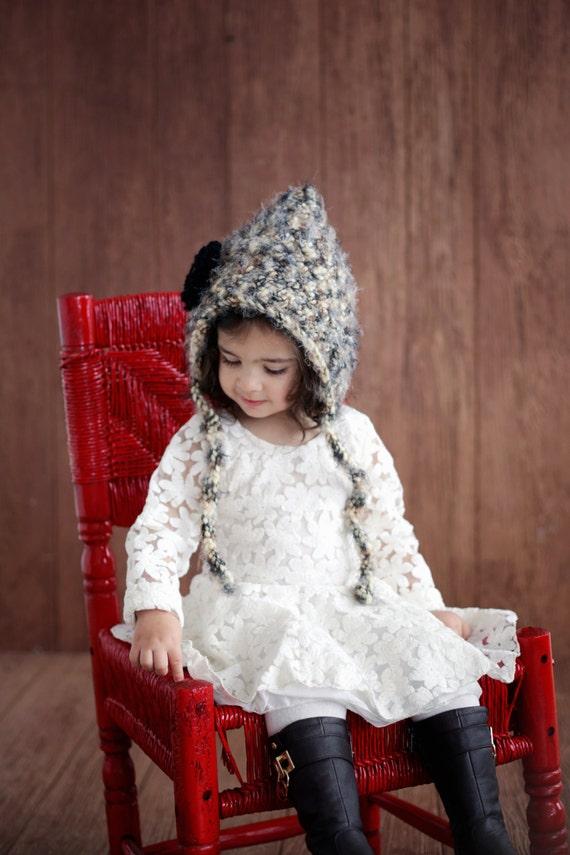 Hat Hood Bonnet Easy Crochet Pattern Baby Girls The Etsy