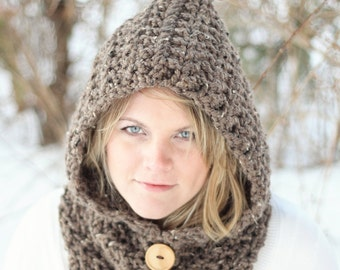 Easy CROCHET PATTERN HOODIE Cowl Crochet Pattern The Toronto