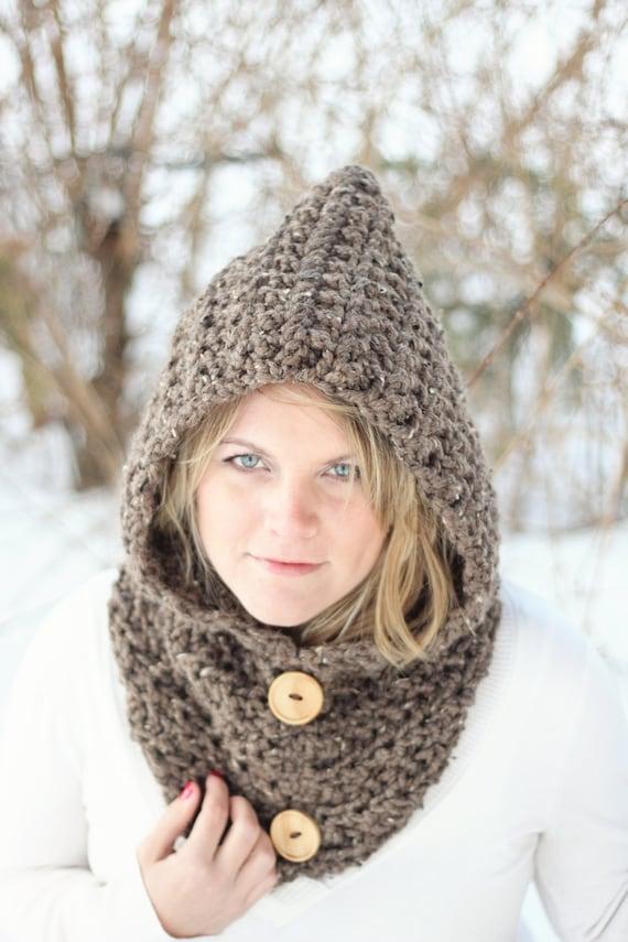 Schal häkeln Muster Schlauchschal HOODIE einfach die Toronto | Etsy