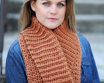 COLLAR Cowl Easy Crochet PATTERN Chunky Bulky Wrap Scarf Cowl Crochet Pattern The ASPEN