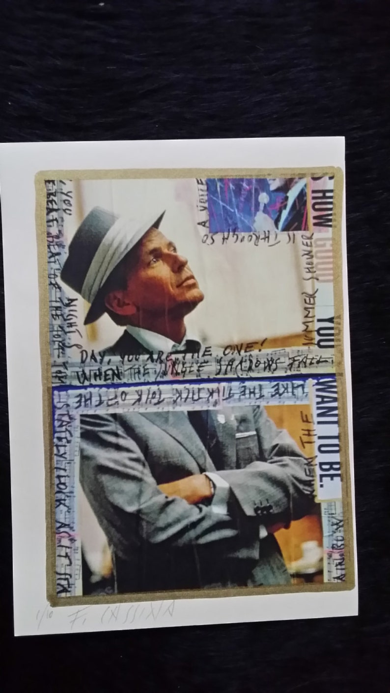 Black friday crazy offer Frank Sinatra handsigned and numbered acrilycs and gold and silver pigments Artwork