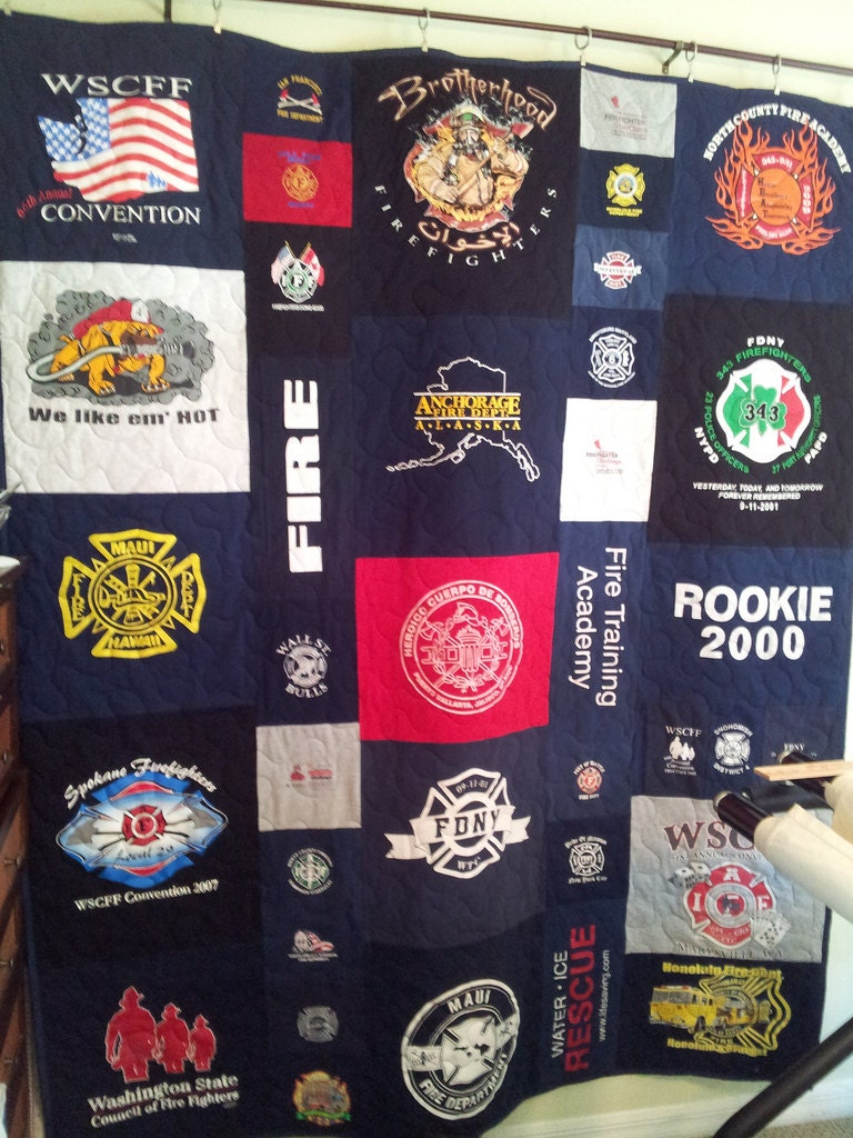 Tshirt Quilt Memory Quilt Mosiac Style Large Etsy