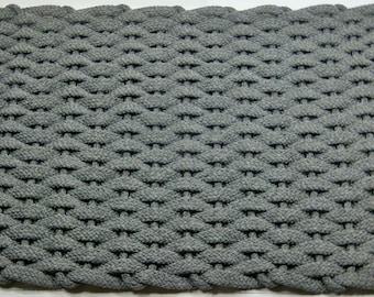 Rockport solid color elegant hand woven soft rope mats