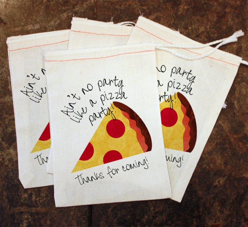 Kids Pizza Party Goodie Bag Candy Toddler Birthday