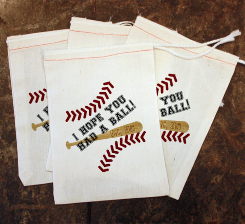 Baseball Birthday Party Gift Bag Toddler Sports