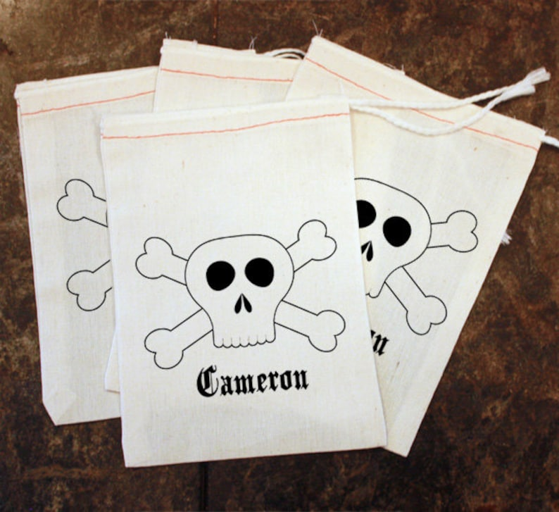 Pirate Party Favor Bags Toddler Birthday Gift Bag