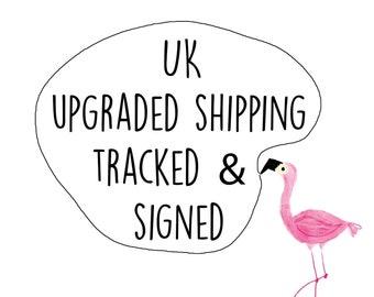 UK upgraded tracked postage