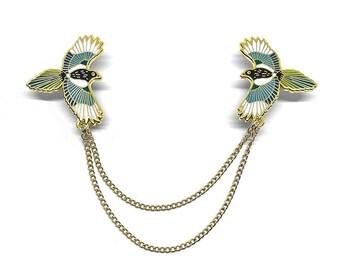 Magpie Collar Chain | Hard Enamel Pin | Jewellery | Jewelry | Collar Chain | Fashion