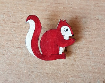 Red Squirrel Brooch, Handmade, Jewellery, Animal Brooch, Jewelry, Badge, pin, Racoon, woodland, squirrel lovers, brooch